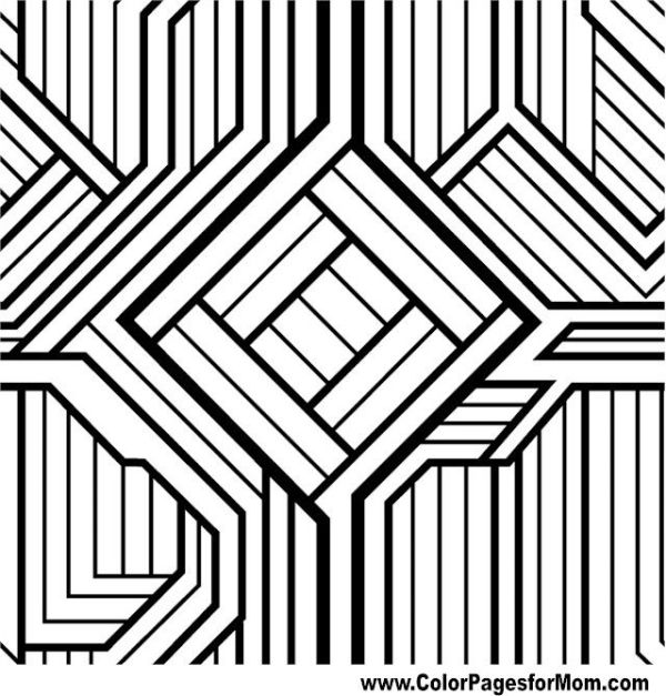 geometric coloring page # 17