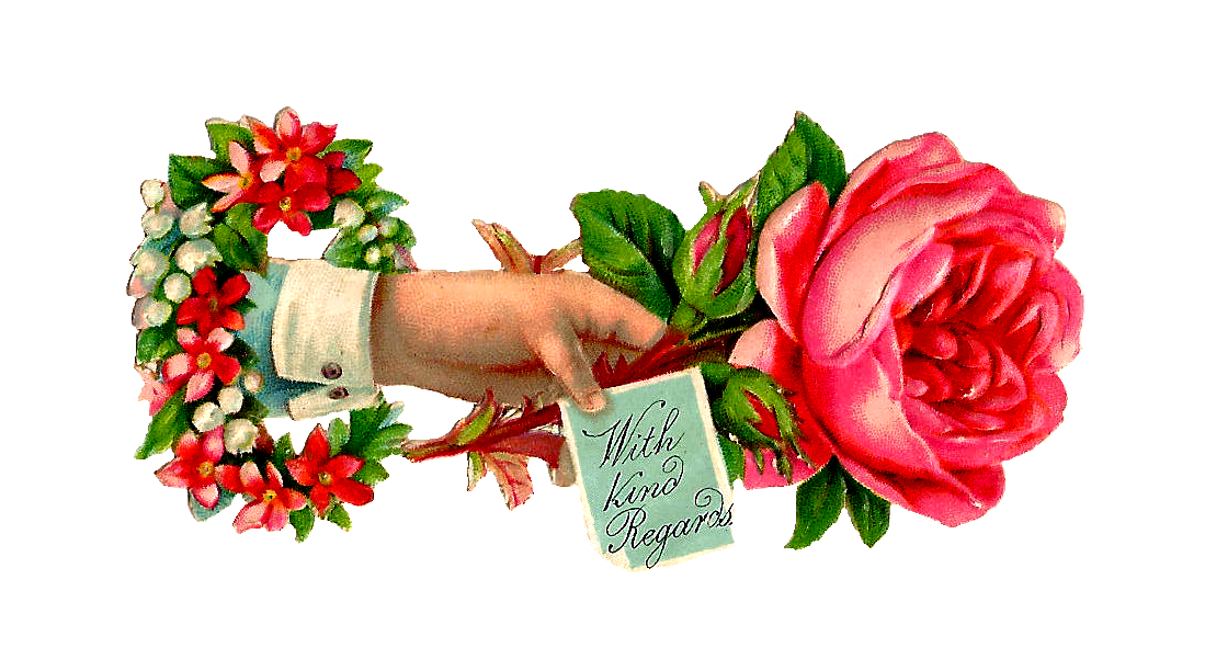 Rose Vintage Border Cream Clip Art Pink And