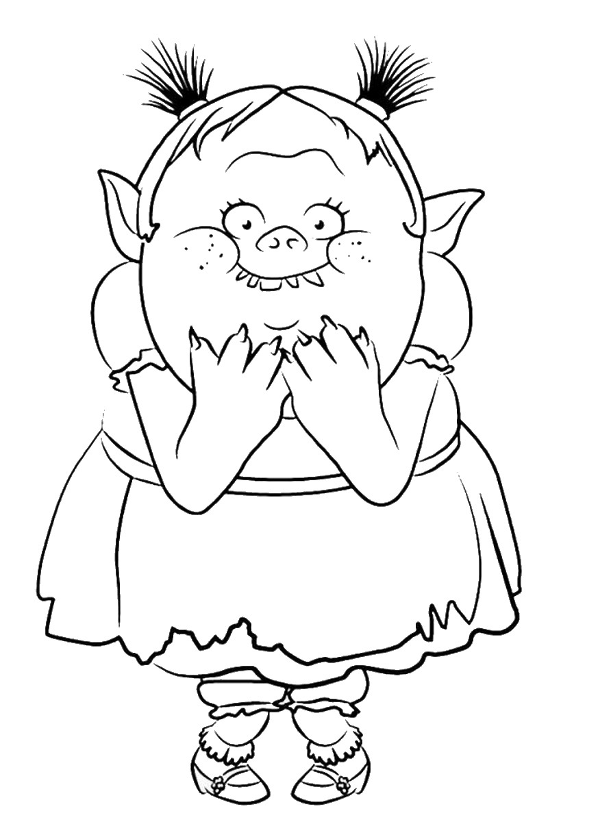 Trolls Coloring Pages Free Download Best Trolls Coloring Pages