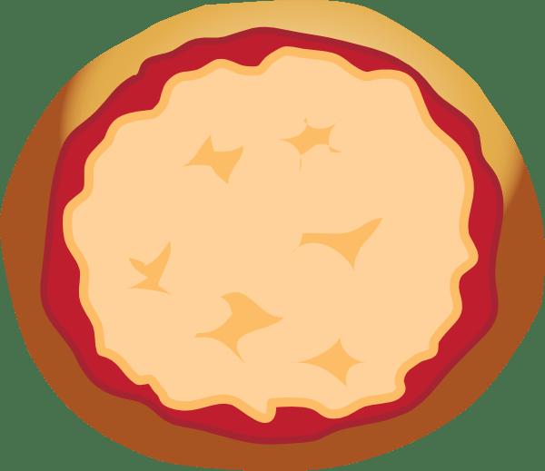Black And Art Clip Pizza Whole White