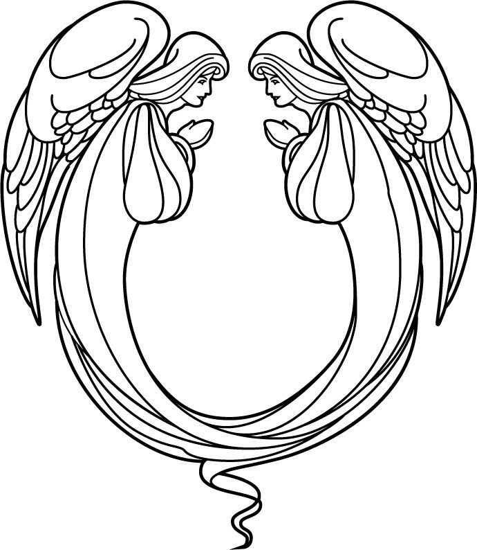 angel clipart for headstones - 690×794