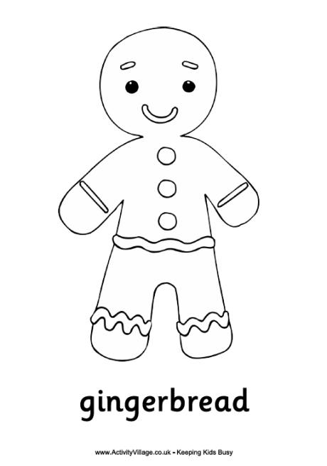 Gingerbread Man Outline - Cliparts.co