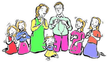 Family praying together clipart 1 » Clipart Station