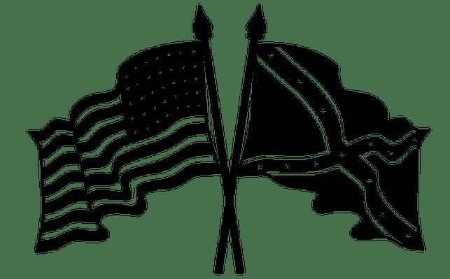 Clip Union Civil Art War Flag