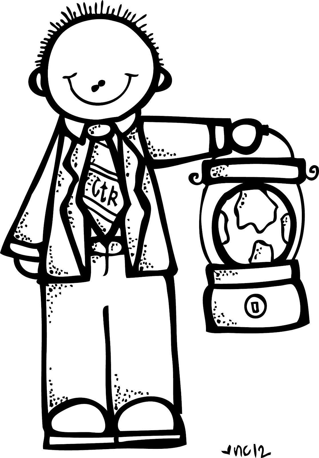 Black And White Clip Art Coloring Pages