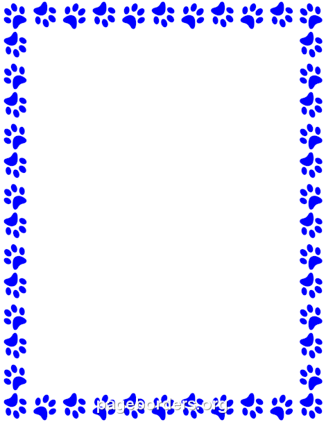 Blue Paw Print Border Clipart Clipground