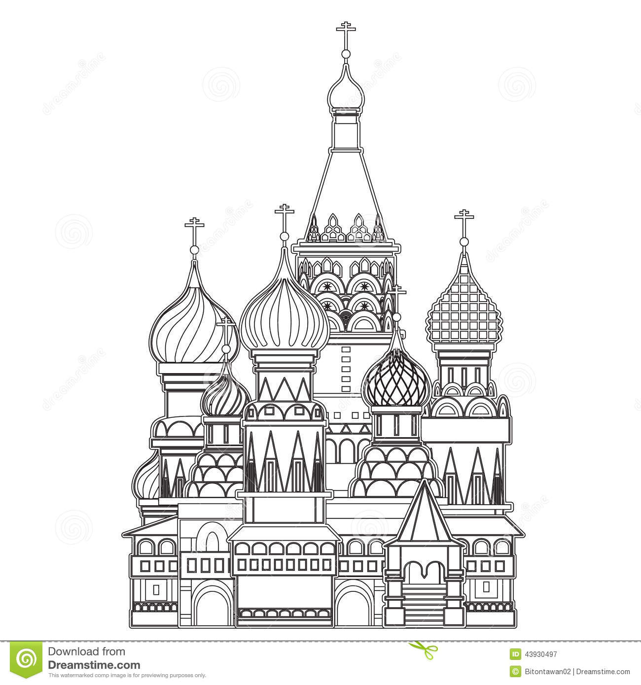 St Basils Cathedral Drawing