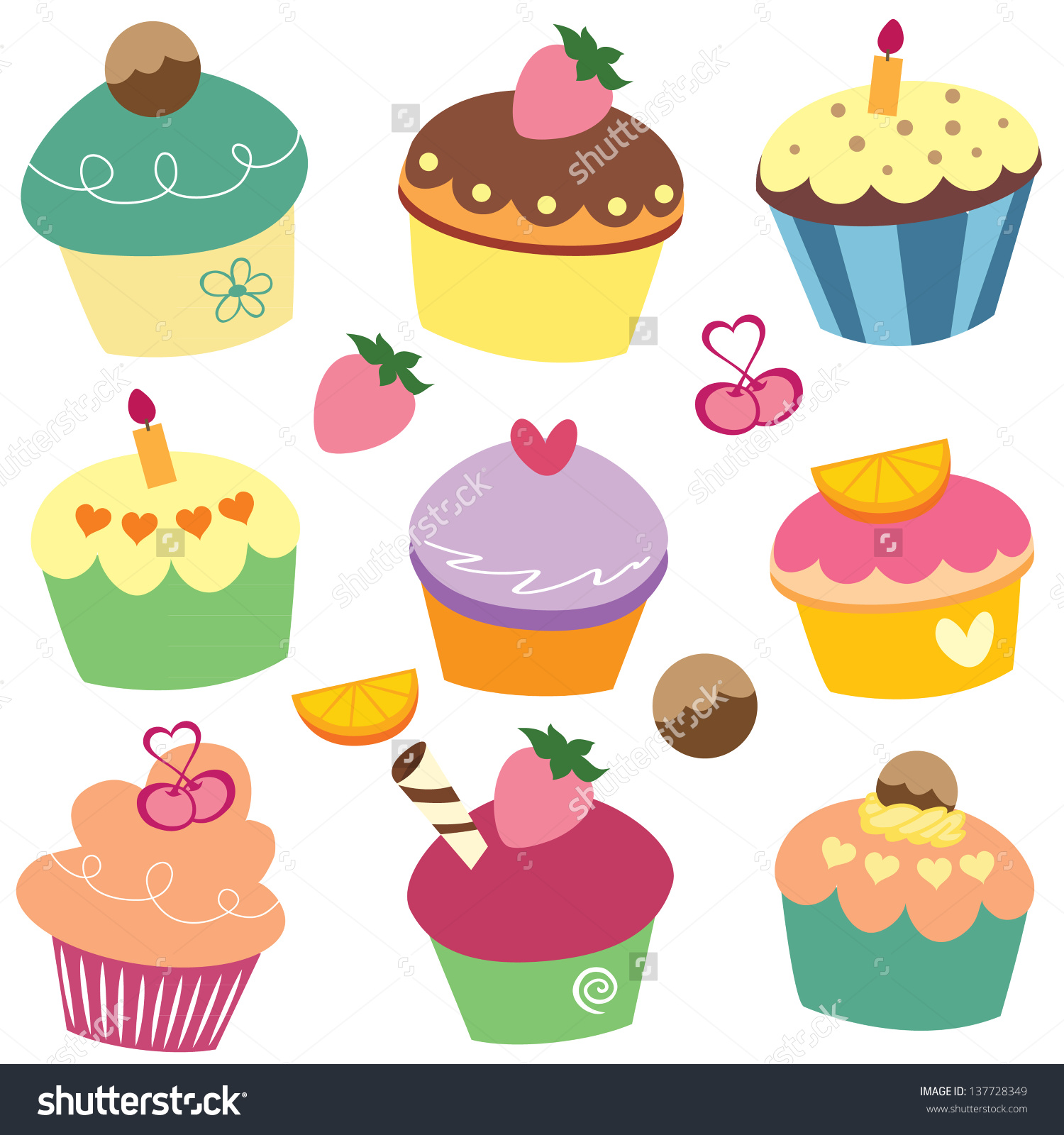Cup Cakes Clipart Clipground