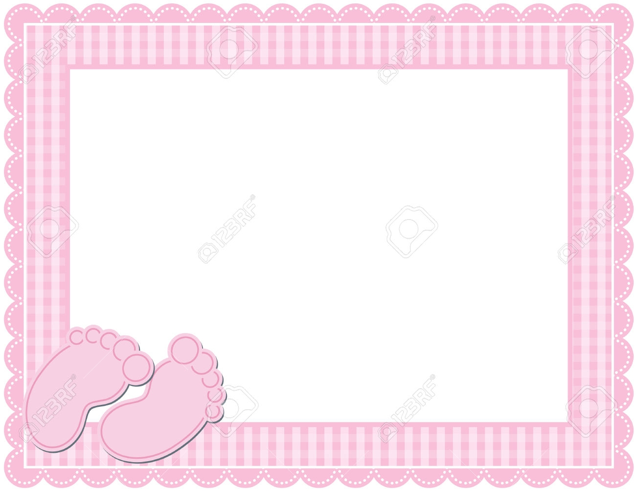 Templates Animal Baby Print Ribbon