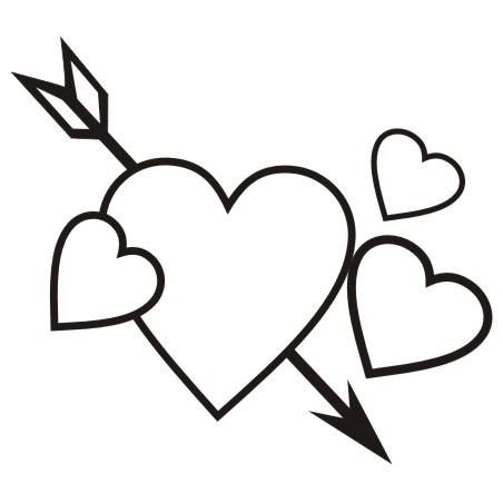 Valentine Heart Clipart Black And White Clipground