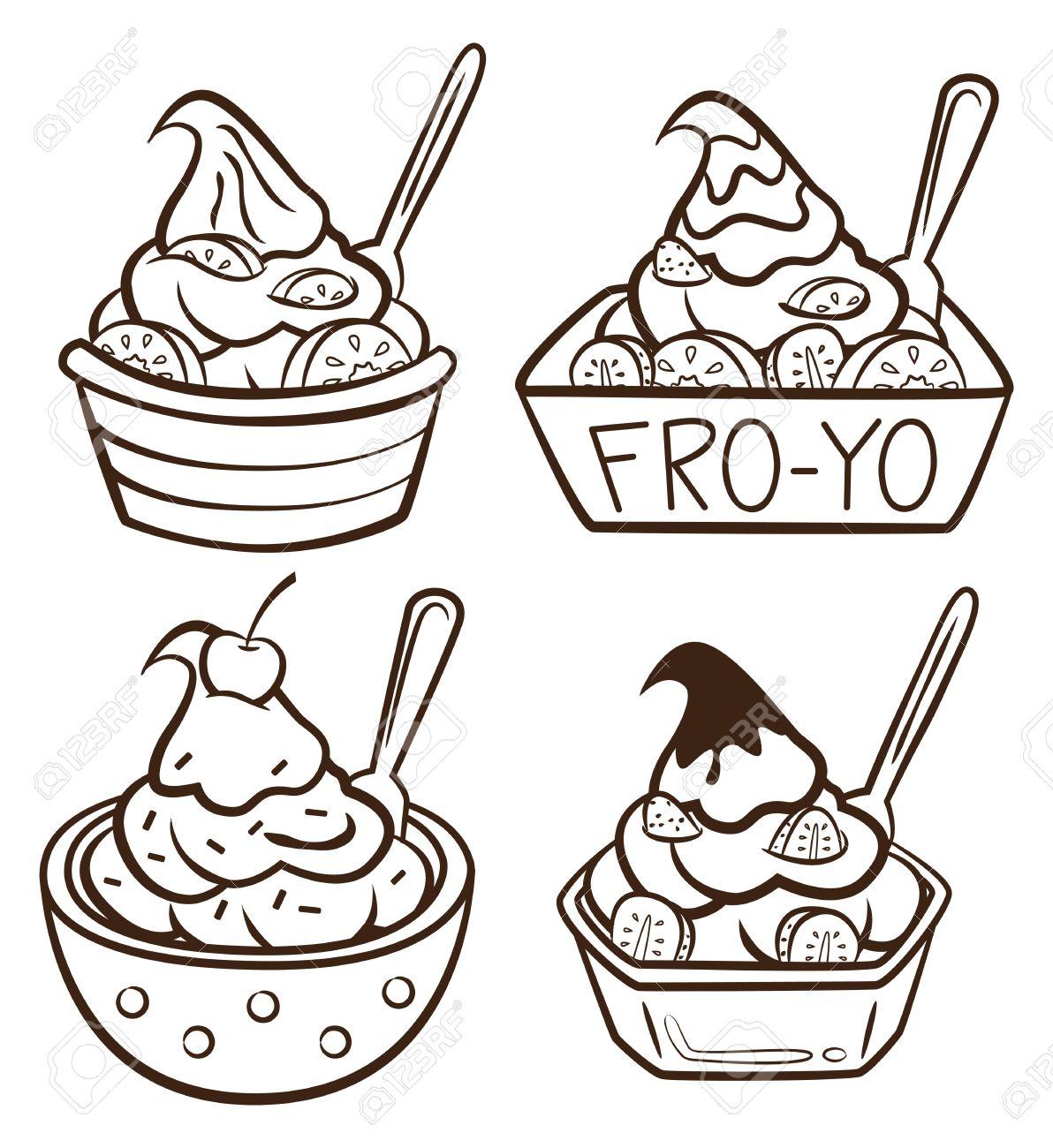 Free Frozen Yogurt Clipart Clipground