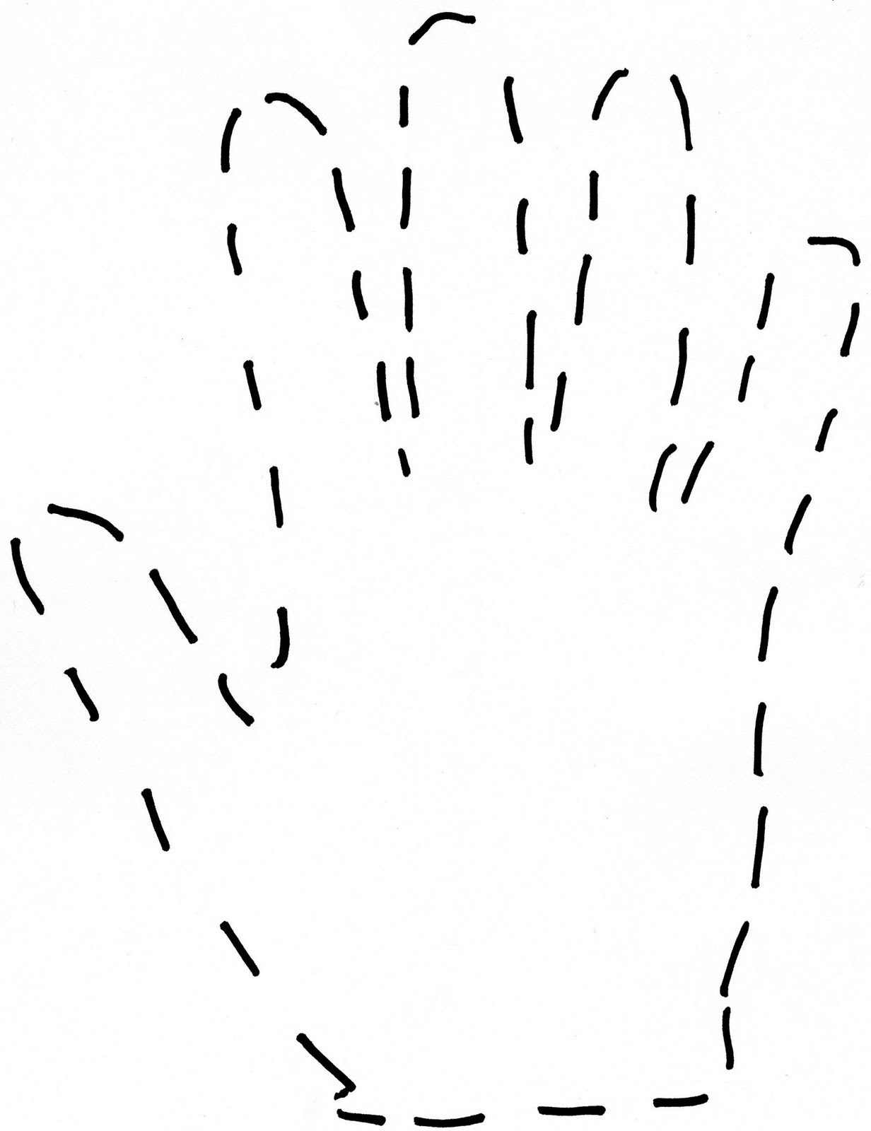 Left And Right Handprint Outline Template