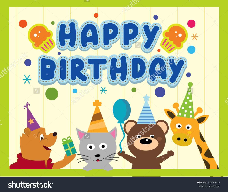 Happy Birthday Animal Clipart Clipground