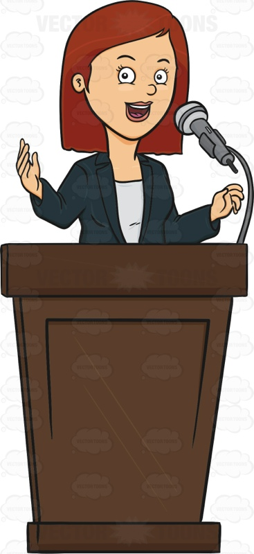 Student Public Speaking Clip Art