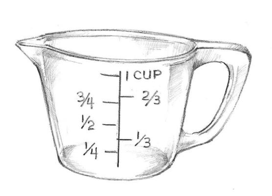 Measuring 4 3 Water Cup