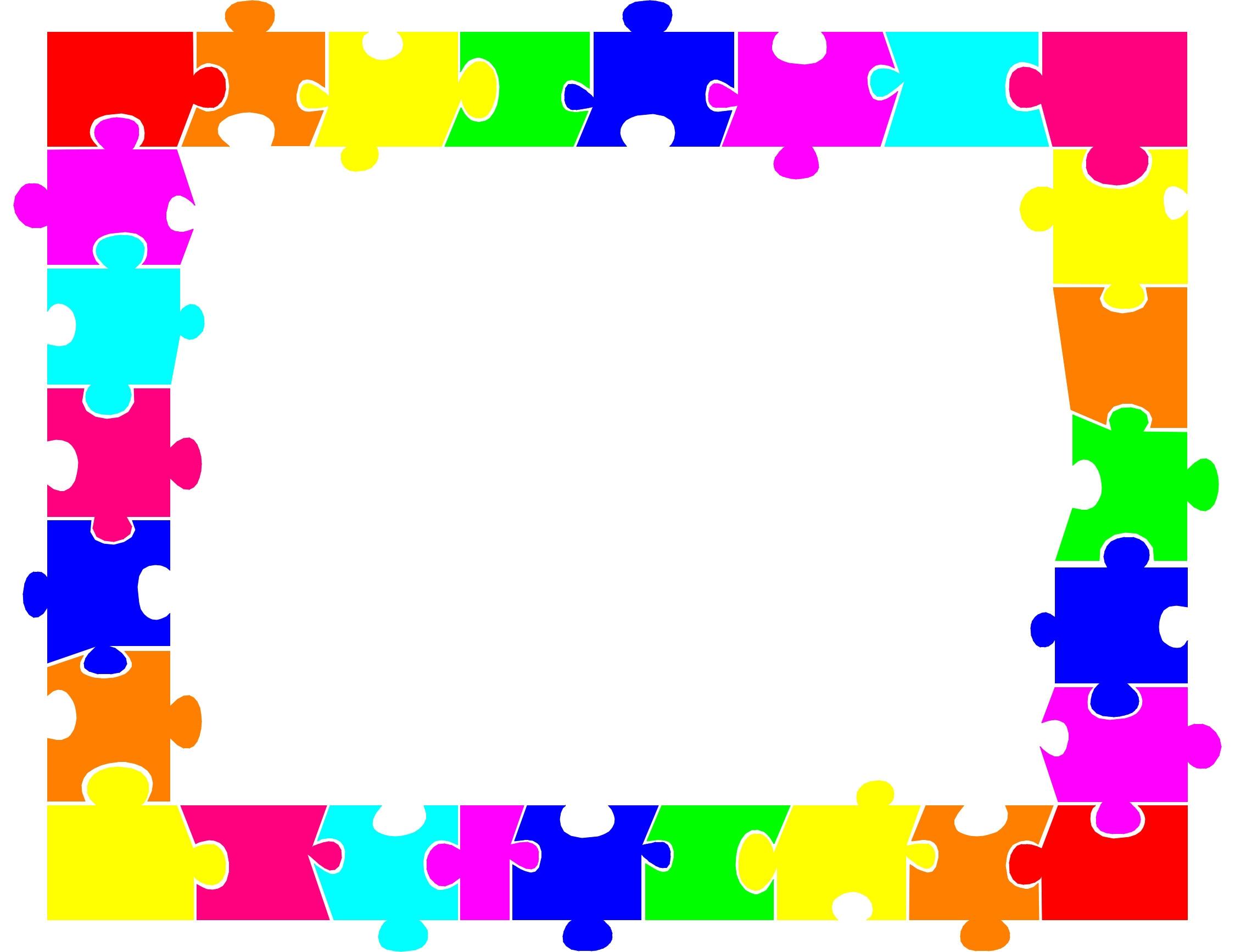 autism puzzle piece template printable