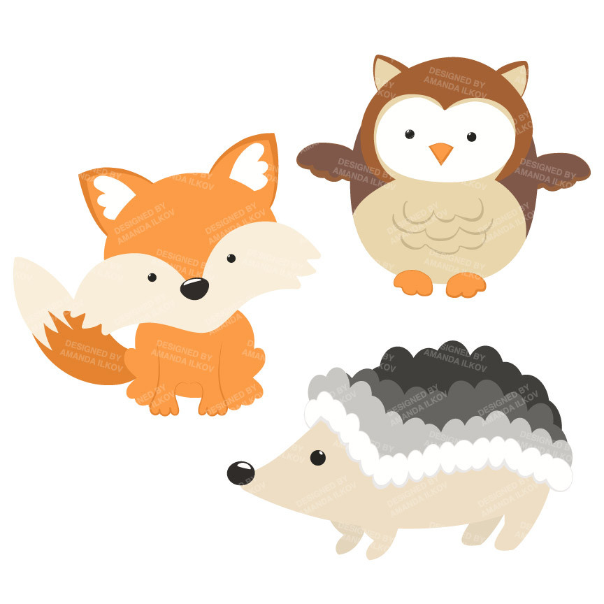woodland critters clipart - Clipground