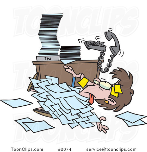 Stack Papers Desk Clip Art