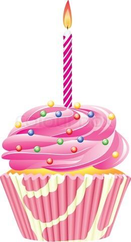 Purple Birthday Cupcake Clipart Clipground