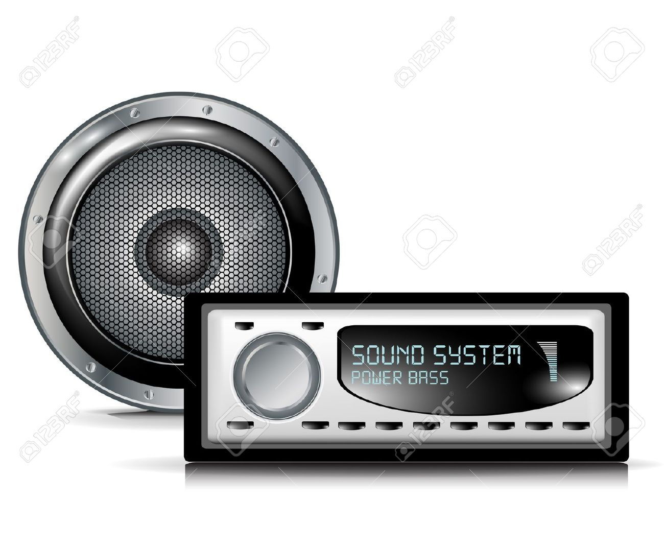 Wall White System Stereo