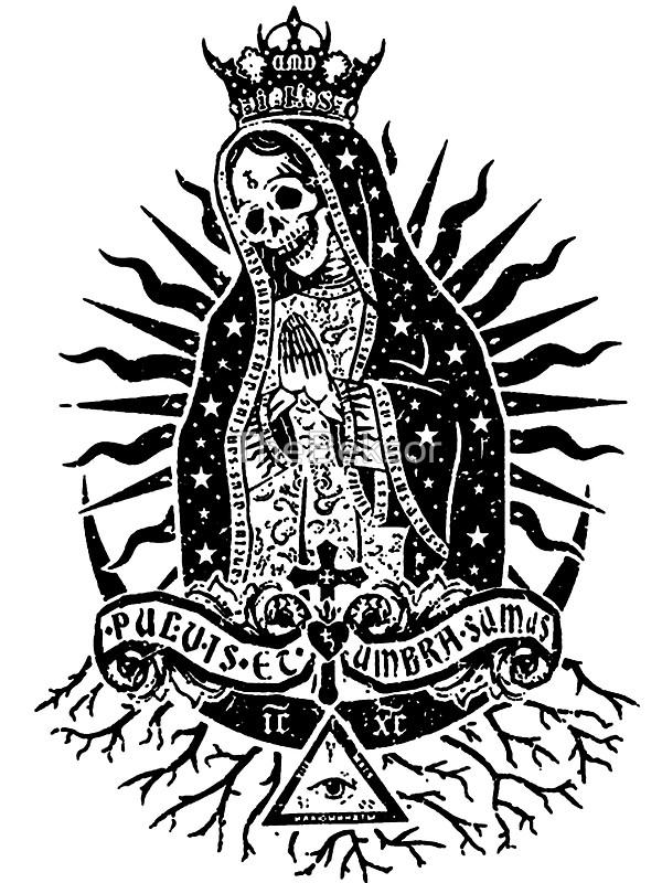 Tattoo Guadalupe De Black White Virgen