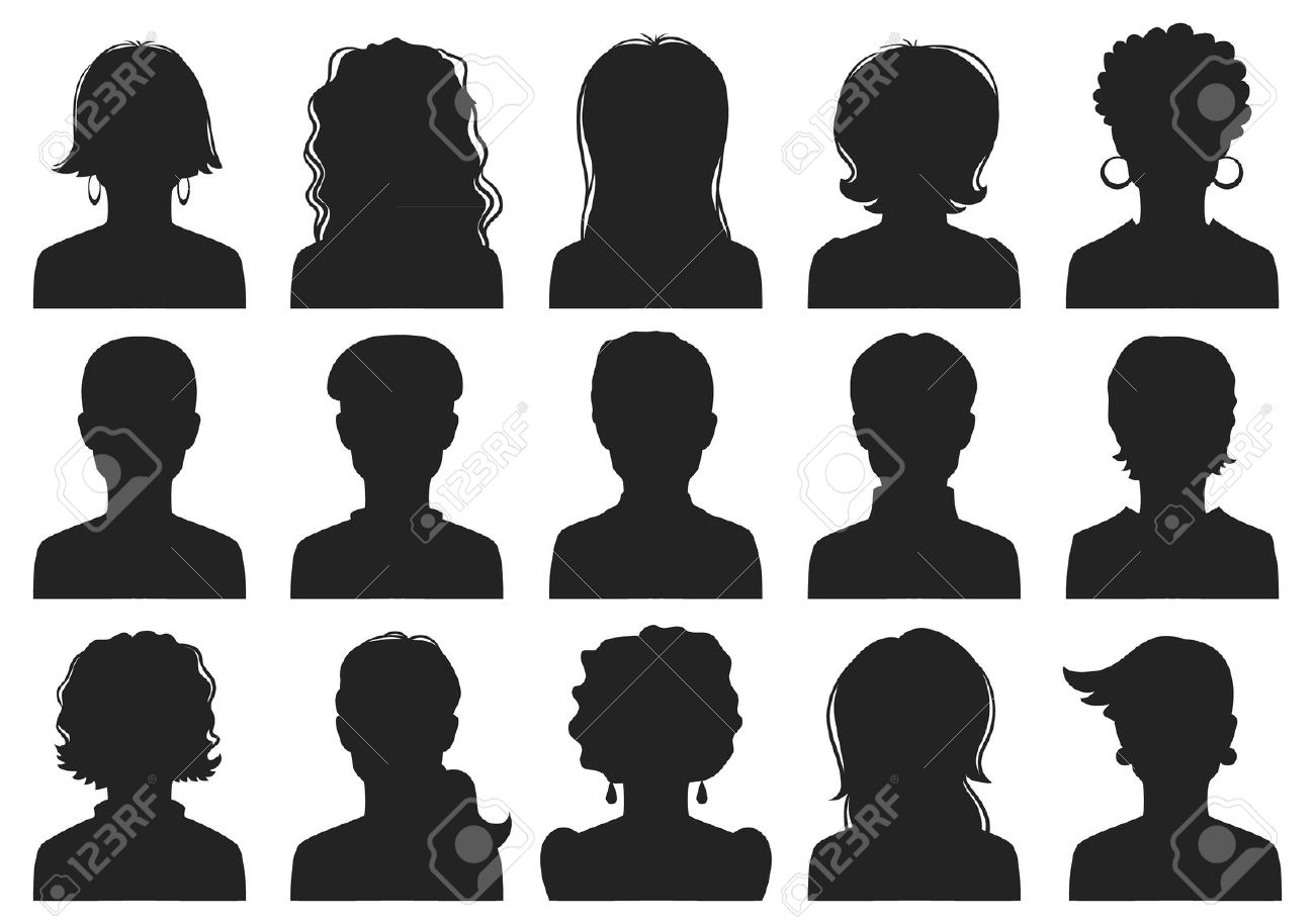 Outline And Head Silhouette Shoulders