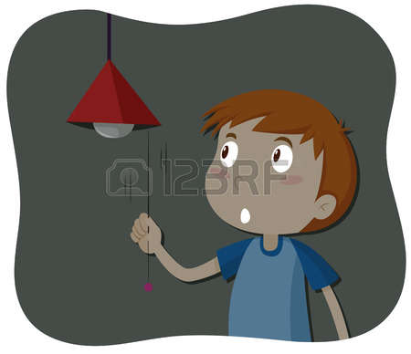 Boy Turning Lights Of Clipart Clipground
