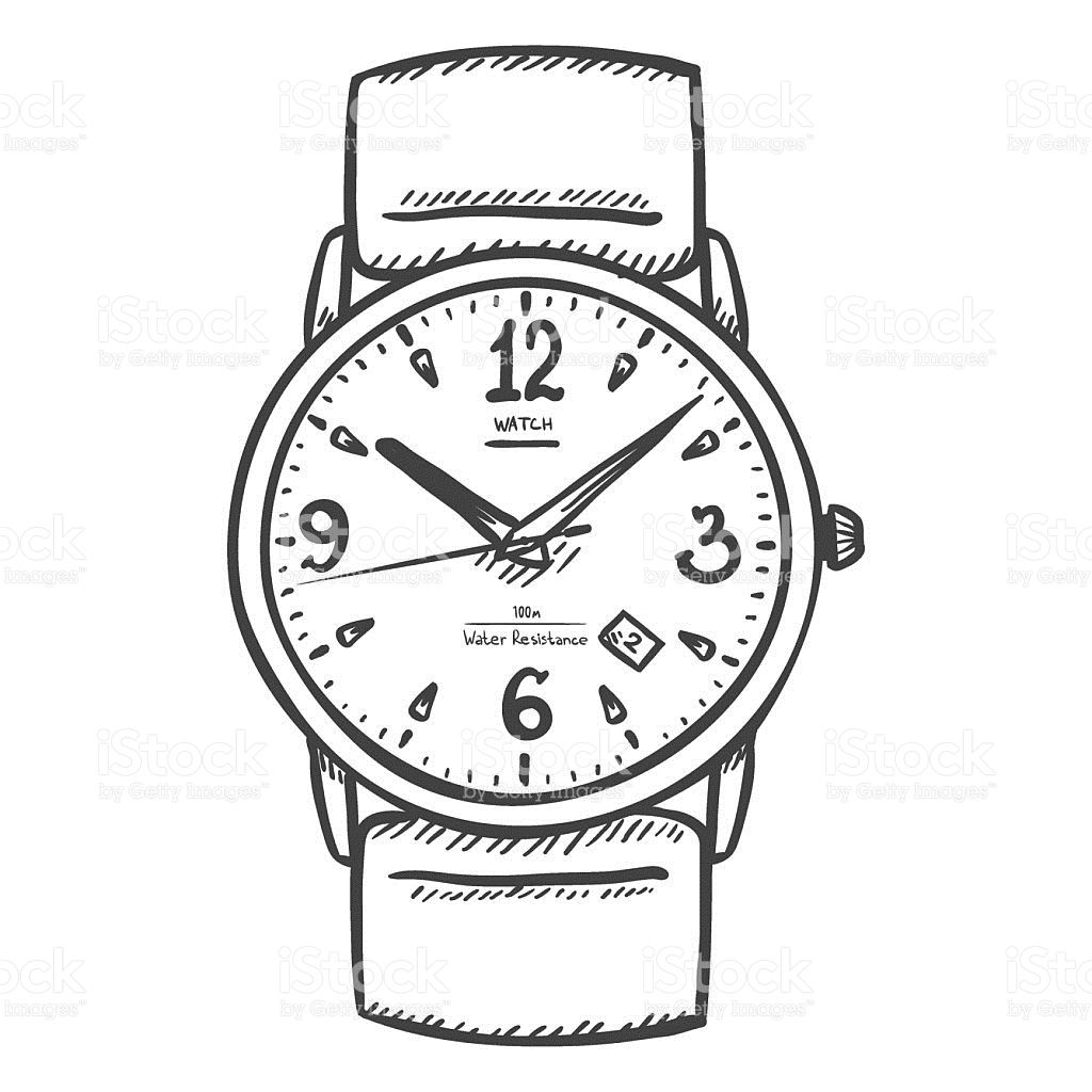 Digital Clock Coloring Page