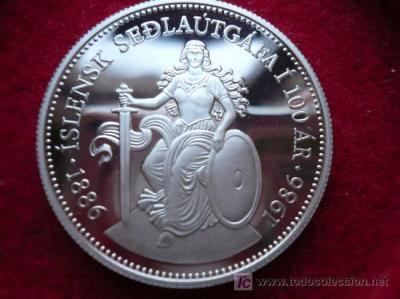 moneda de islandia en plata 1886 / 1986 - Comprar Monedas ...