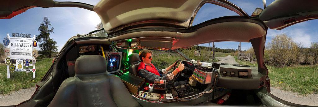 Back To The Future Delorean Interior 360 Panorama 360cities