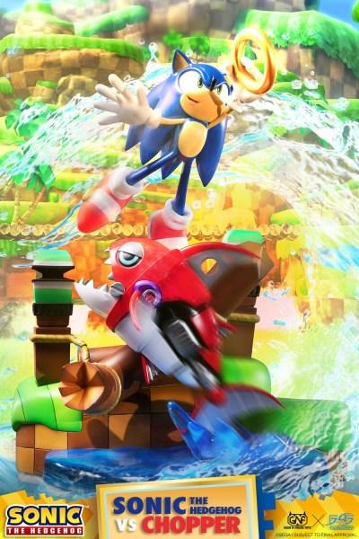 Sonic The Hedgehog vs Chopper Diorama