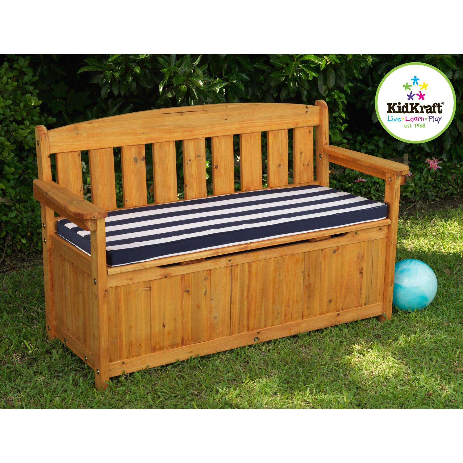Outdoor Storage Bench With Cushion Ojcommerce