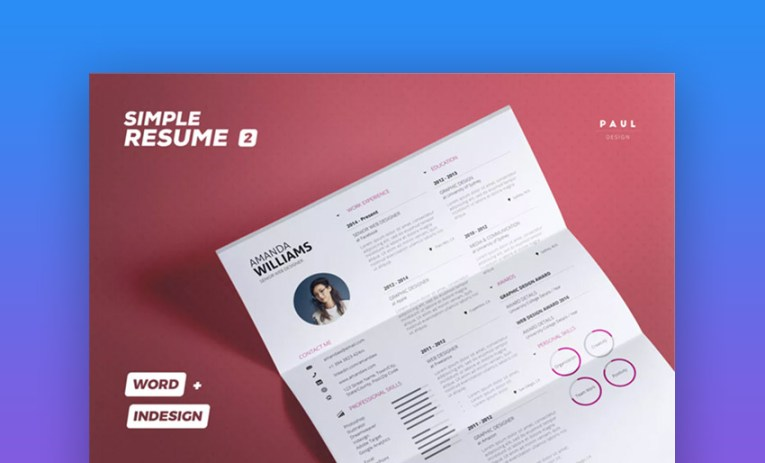 20 Best Job Resume Templates With Simple Designs  2018  Simple Resume CV Volume 2