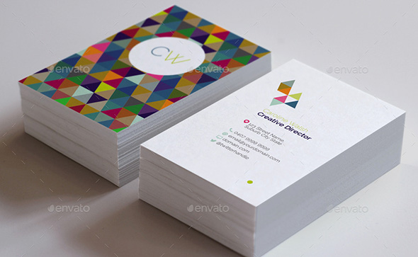 5 Double Sided  Vertical Business Card Templates   Photoshop  PSD  Double Sided Geometric Pattern Business Card Template