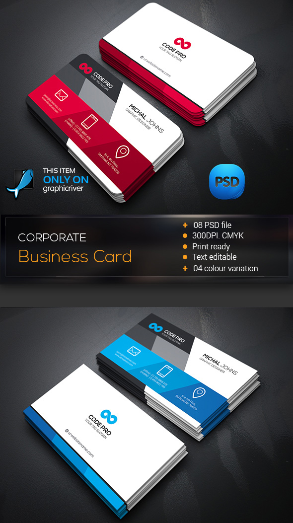 15 Premium Business Card Templates  In Photoshop  Illustrator     Corporate Business Card Template