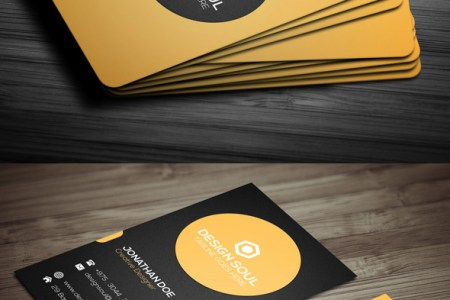 15 Premium Business Card Templates  In Photoshop  Illustrator     Simple corporate card template