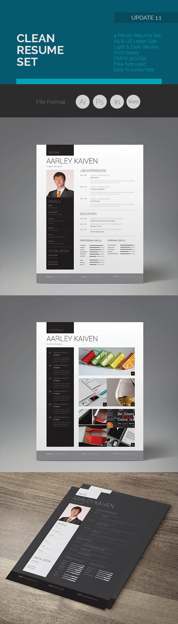 25 Creative Resume Templates  To Land a New Job in Style Pro Design Clean Resume Set
