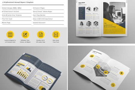 20 Best InDesign Brochure Templates   For Creative Business Marketing The Annual Report   Creative Brochure