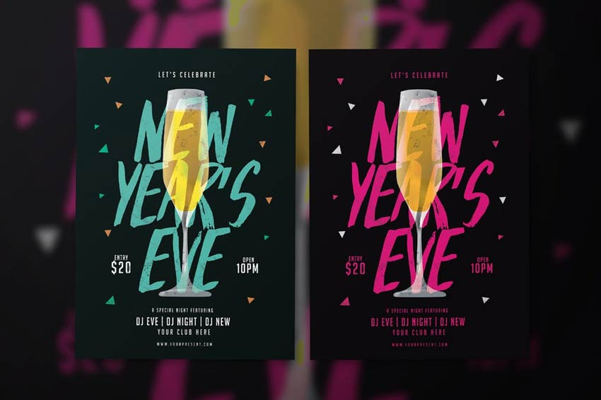 30 Best New Year s Eve Flyers and Invitations New Year Flyer
