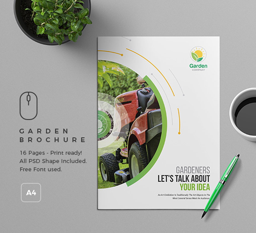 31 Premium Brochure Templates  Booklets and Tri Folds  Garden Brochure Template