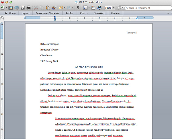 Research Paper Mla Format Quotes
