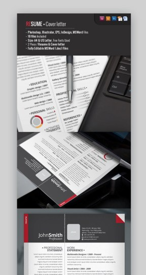 18 Best Photoshop  PSD  Resume Templates  With Photo Formats  Pro Resume Template