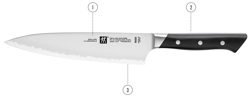 Professional Knives Used Chefs