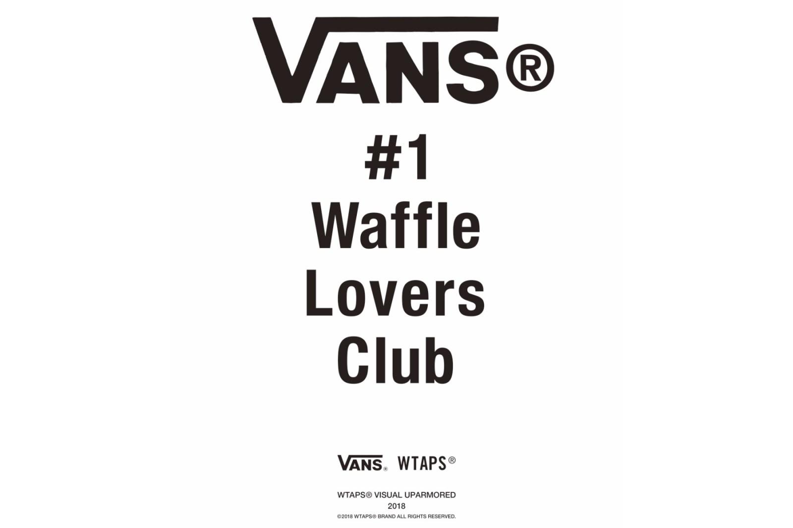Vault by Vans x WTAPS 2018 聯乘系列即將發布