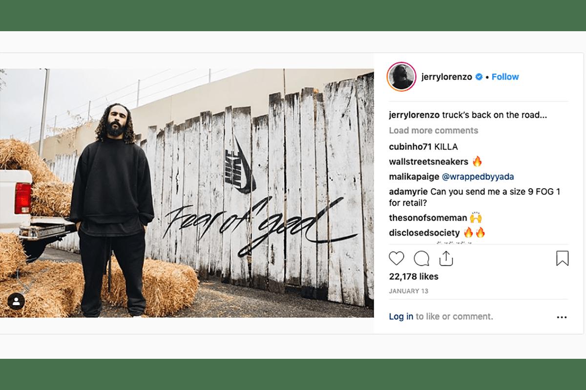 Nike Air Fear of God 1 是他兩年前的創作 | Jerry Lorenzo 作客 Business of HYPE