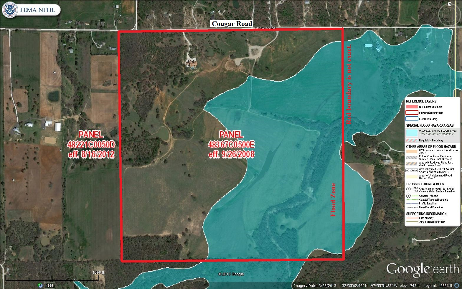 Aerial Map Flood Zone   268 Acre Gorgeous property   801 Cougar Road     Aerial Map Flood Zone     268 Acre Gorgeous property   801 Cougar Road   Lipan  Parker County  Texas