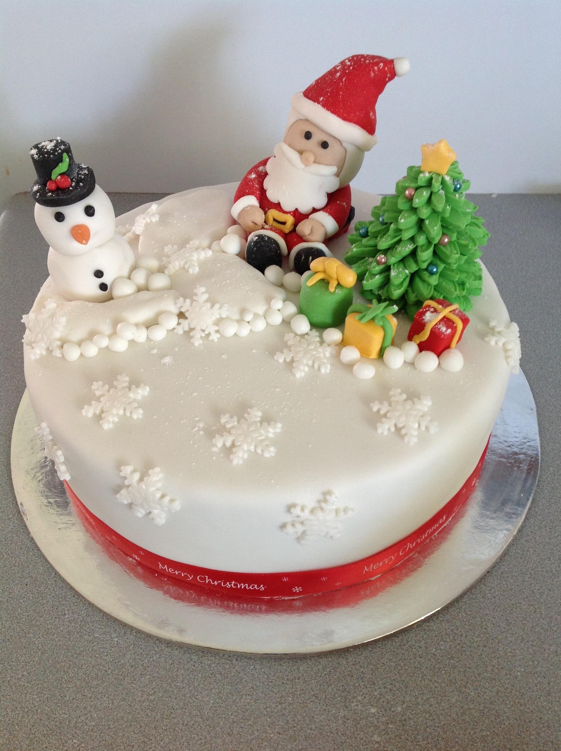 Santa Christmas Cake Coastal Cake Design