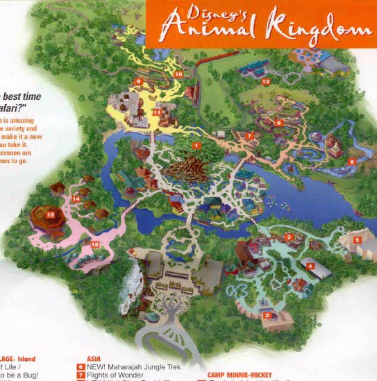 Animal Kingdom Map 2000