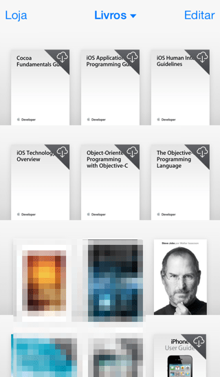 Photo of iBooks 3.2 com cara de iOS 7 na Área