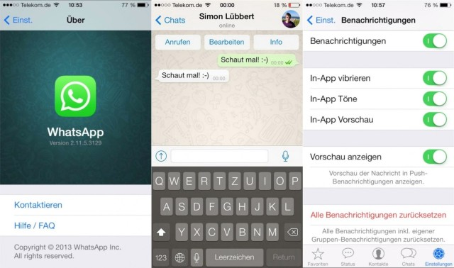 Photo of Veja como vai ser o WhatsApp com cara de iOS 7